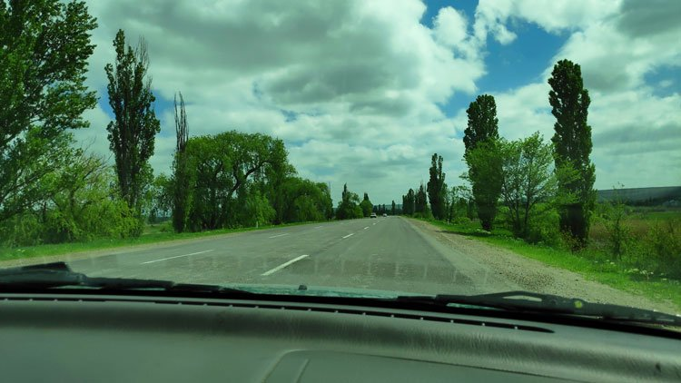 Weird roads in Moldova and Transnistria.