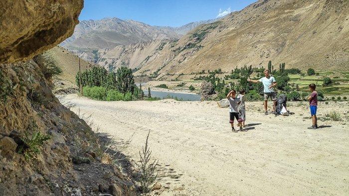 Kids along the Pamir Highway