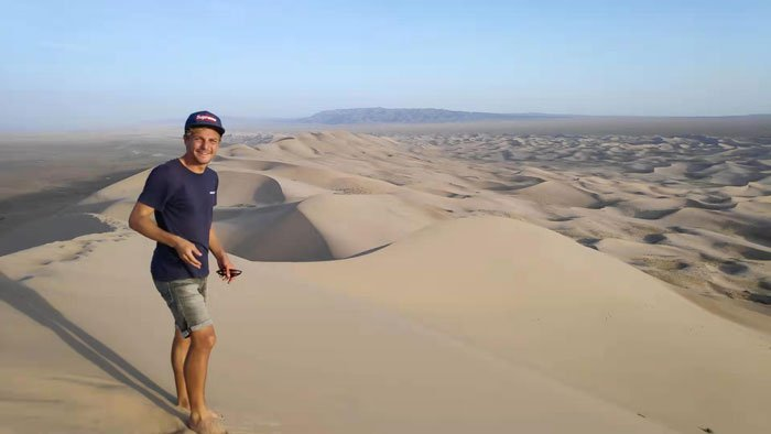 Hitchhiked to the Gobi Desert