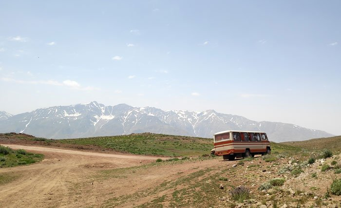 hitchhiked a bus in iran