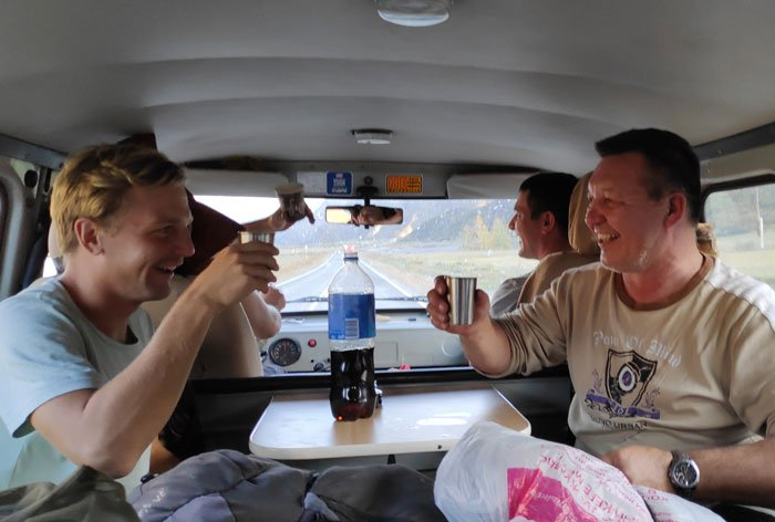 wodka in russian van