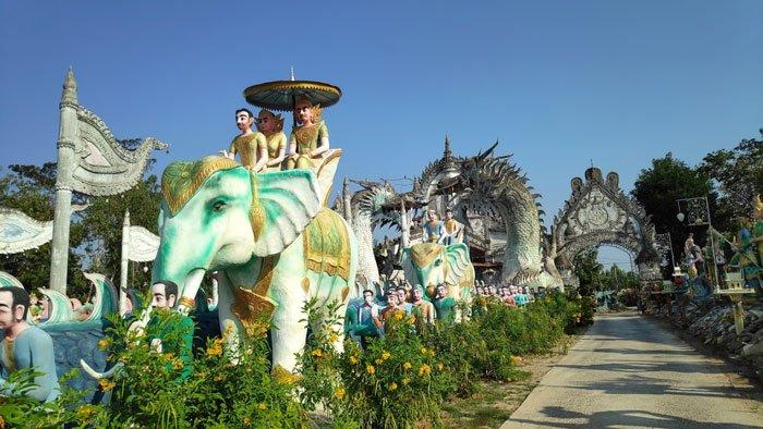 special temple sculptures thailand
